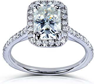 Kobelli Near-Colorless (F-G) Moissanite Engagement Ring 1 2/5 CTW 14k White Gold