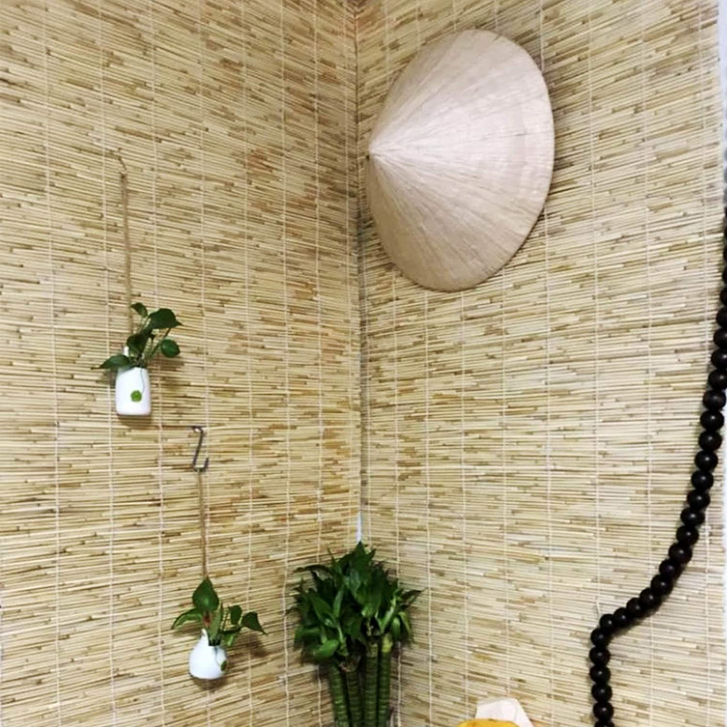 TTBB Roll-up Reed-Shade Straw Shading SALENEW very popular Wate Curtains Max 76% OFF Sunscreen