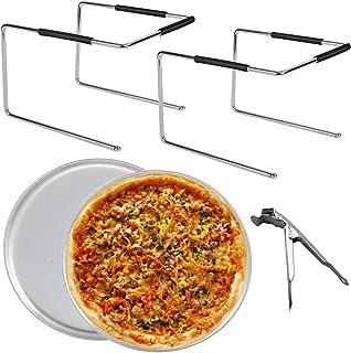 Tiger Chef Pizzaständer und Pizzablech-Set: Zwei Pizzastän