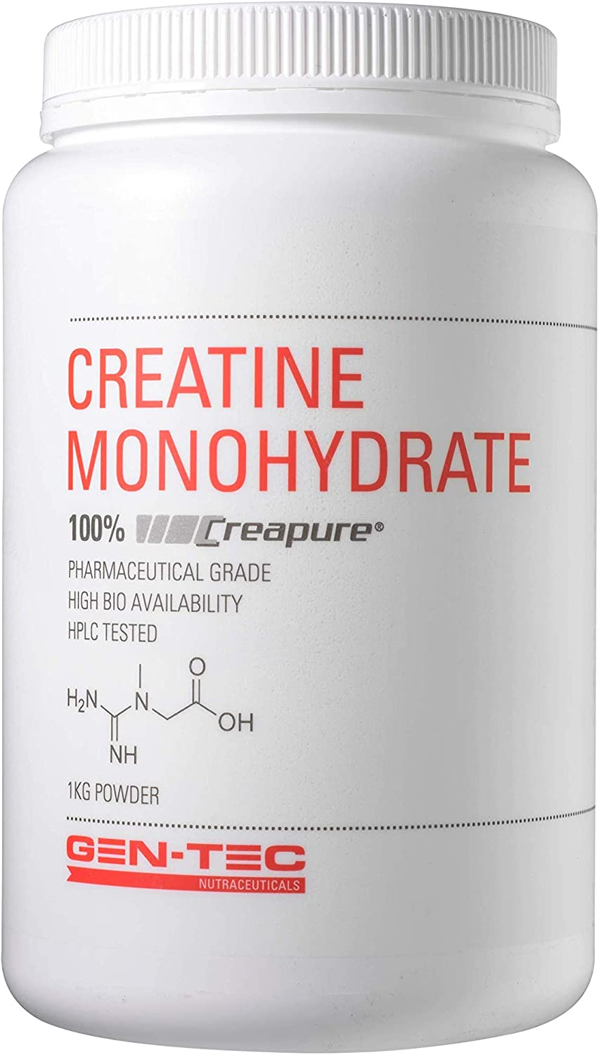 Gen-Tec Nutrition Creatine Monohydrate Powder, 1 Kilograms