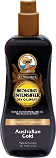 Australian Gold Bronzing Intensifier Dry Oil Spray, Colorboost Maximizer, 8 Fl Oz
