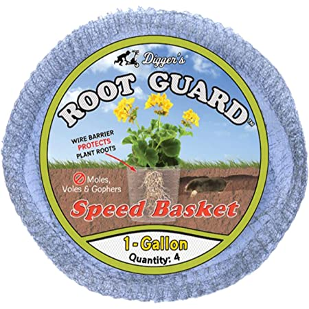 Digger's 1-Gallon Gopher Wire Speed Baskets (4-Pack) – Gopher Baskets Made For Fast & Efficient Planting – Effective Gopher Repellent For Perennials, Berries, & Vegetables