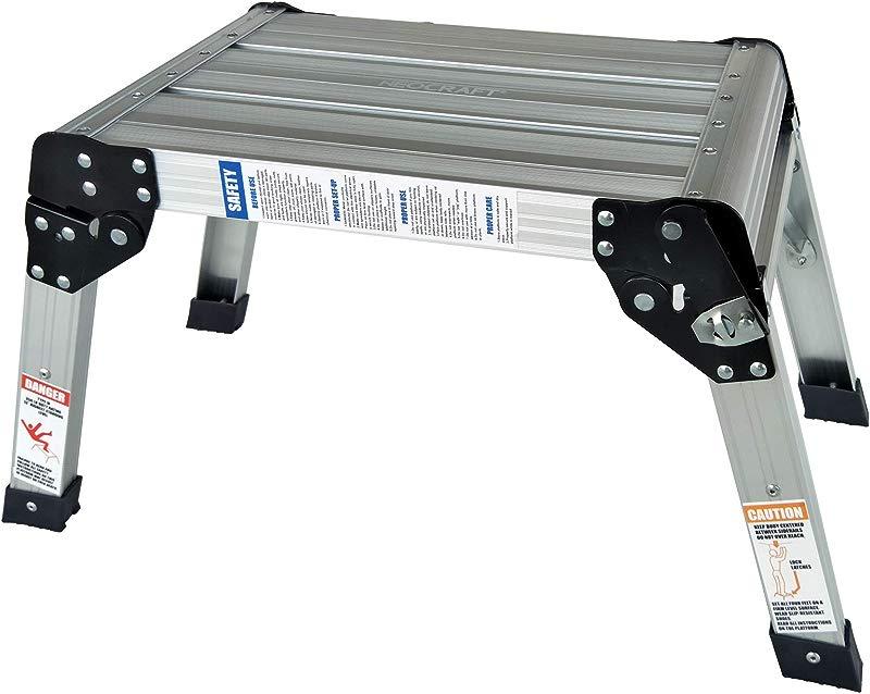 Neocraft 60635 Heavy Duty Aluminum Stool 350Lbs Capacity Silver