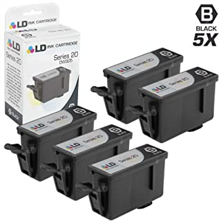 LD Compatible Ink Cartridge Replacement for Dell DW905 Series 20 (Black, 5-Pack)