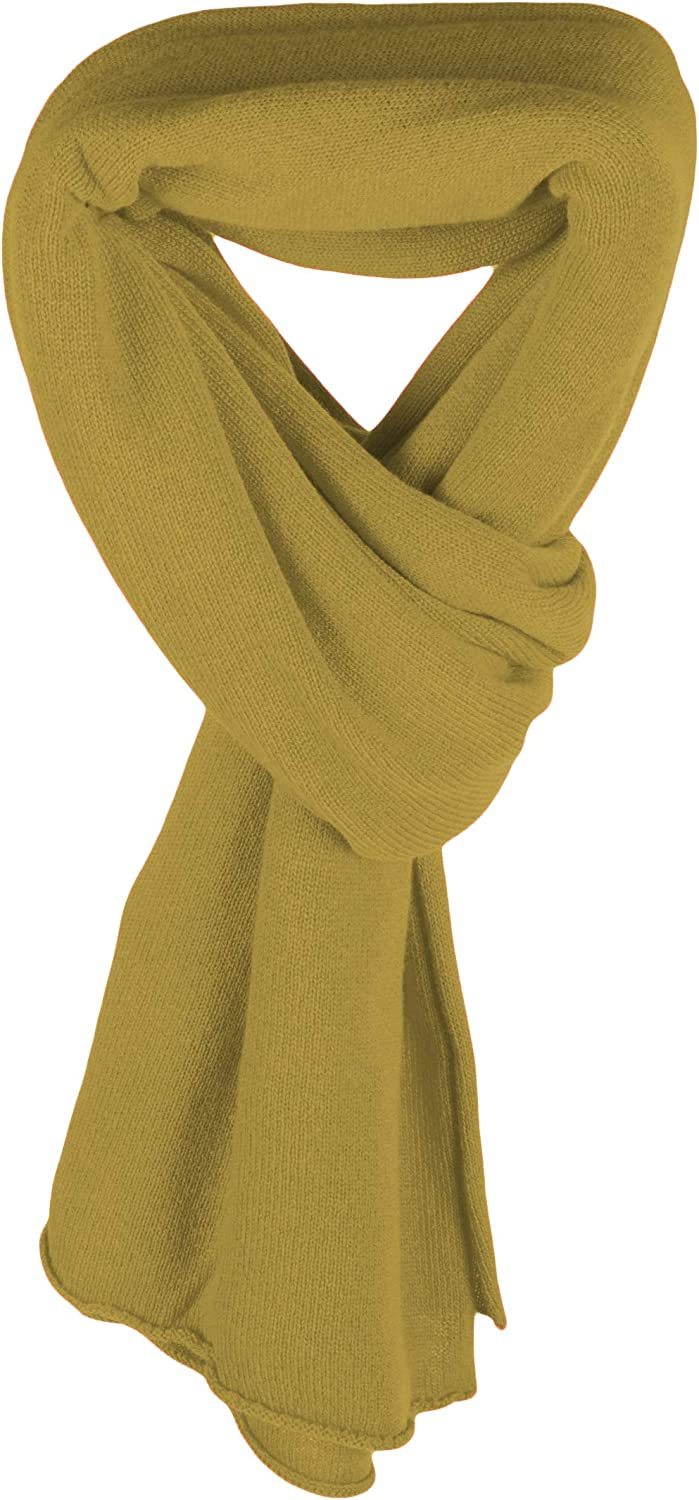 Love Cashmere Women's 100% Cashmere Wrap Scarf - Mustard - hand made in Scotland RRP $350