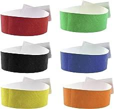 Fun Fan Line - Pulseras identificativas de Papel tyvek para Eventos y Fiestas. Pulseras de Control numeradas con Cierre Adhesivo. Intransferible y Resistente al Agua.
