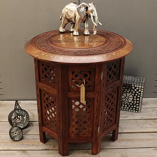 Dark Wood Side Table Amazoncouk
