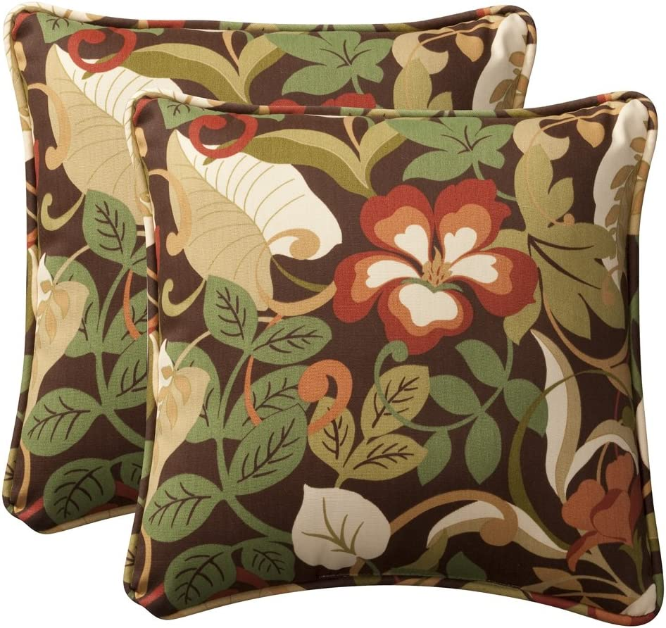 Pillow Perfect Decorative Las Vegas Max 50% OFF Mall Brown Blue Tropical Toss