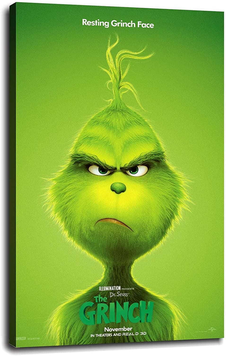 The Grinch Canvas Prints Poster Wall Office Max 78% OFF Branded goods Decorat For Home Art