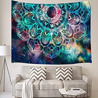 "Grace Store Mandala Tapestry Wall Hanging Celestial Starry Sky Wall Tapestry Colorful Boho Tapestry for Bedroom Dorm Decor Hippie Psychedelic Tapestry 51"" 59"""