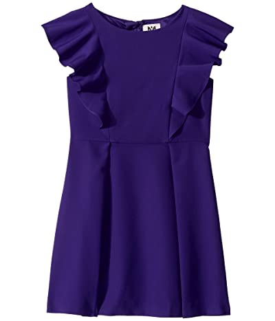Milly Minis Ruffle Dress (Big Kids) (Royal) Girl