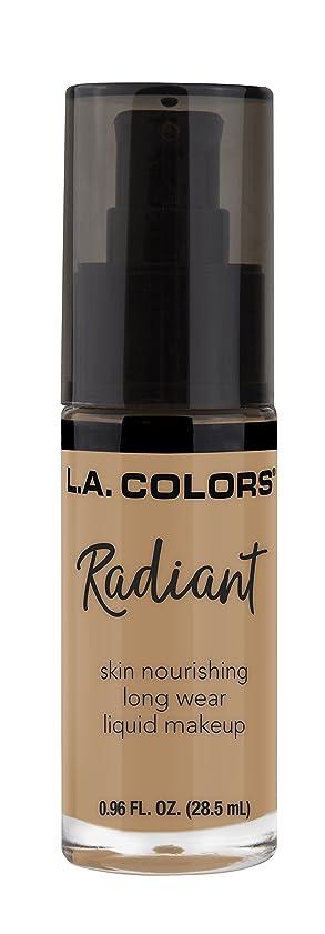 フットボールまた明日ね頬L.A. COLORS Radiant Liquid Makeup - Light Toffee (並行輸入品)