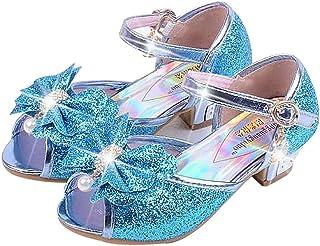 3b3322ed Zapatos de Lentejuelas de Niña Zapatosde Tacón Altode Princesa Zapatos de  Fiestade Niños