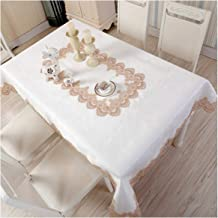 wing1 Proud Rose Round Tablecloth European Lace Table Cloth Table Runner Satin Jacquard Table Cover Wedding Decoration,White,40x180cm