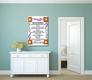 COLORSFORU 10 Commandments for Kids Custom Poster 20x30 Inch Canvas Wall Art Print Home Modern Decoration