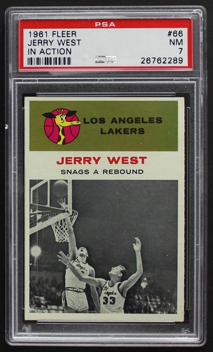 Inventory cleanup selling sale 1961 discount Fleer # 66 In Action West Lakers Jerry Angeles Los Basketb
