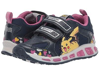 Geox Kids Shuttle 16 Pokemon (Toddler/Little Kid) (Navy/Pink) Girl