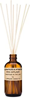 Oakmoss & Amber Reed Diffuser Set 3oz | Handmade by Lorenzen Candle Co