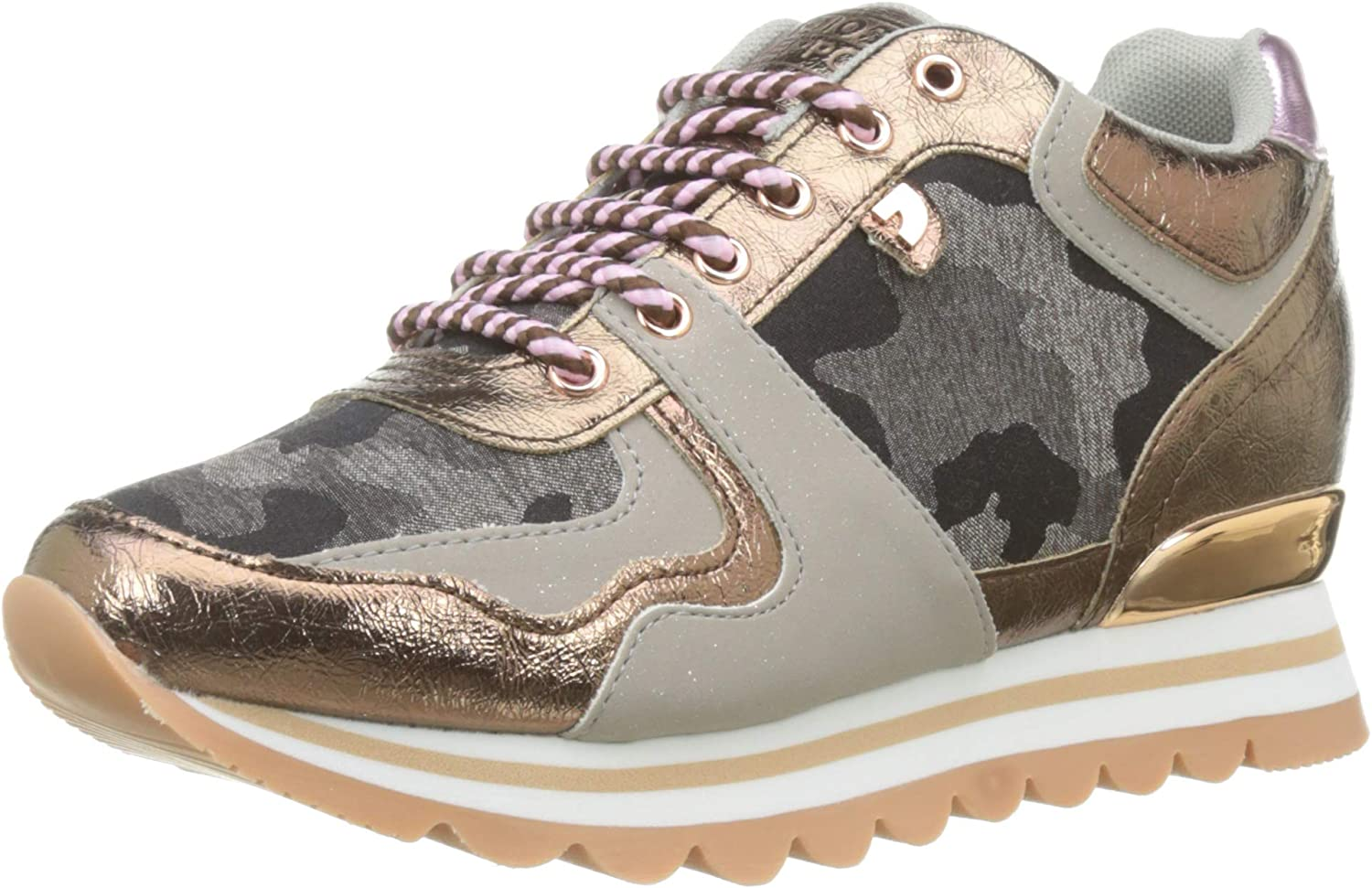 GIOSEPPO shoes woman low sneakers with internal wedge 47693 AVALLON CAMOUFLAGE