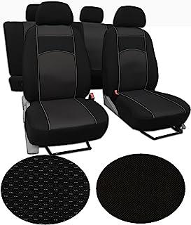 Universal Autositzbezüge Schwarz für Mercedes C-Klasse W203 Vorne 1+1 Bezug PKW