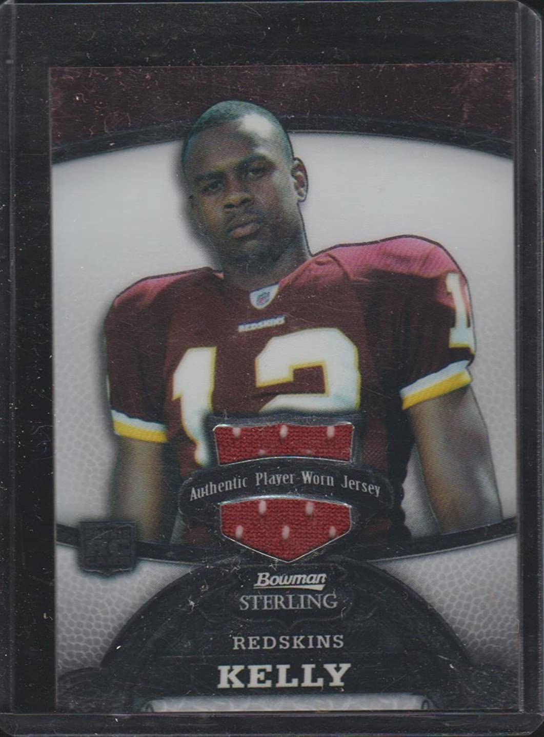 2008 Bowman Sterling Malcolm Kelly Redskins 60/569 Rookie Jersey Football Card #162