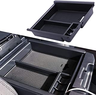 JDMCAR Compatible with Tacoma 2016-2019 2020 Center Console Organizer Insert ABS Black Materials Tray, Armrest Box Secondary Storage