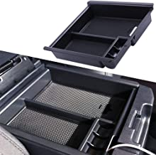 JDMCAR 4350410373 for Tacoma 2016-2019 Center Console Organizer Insert ABS Black Materials Tray, Armrest Box Secondary Storage