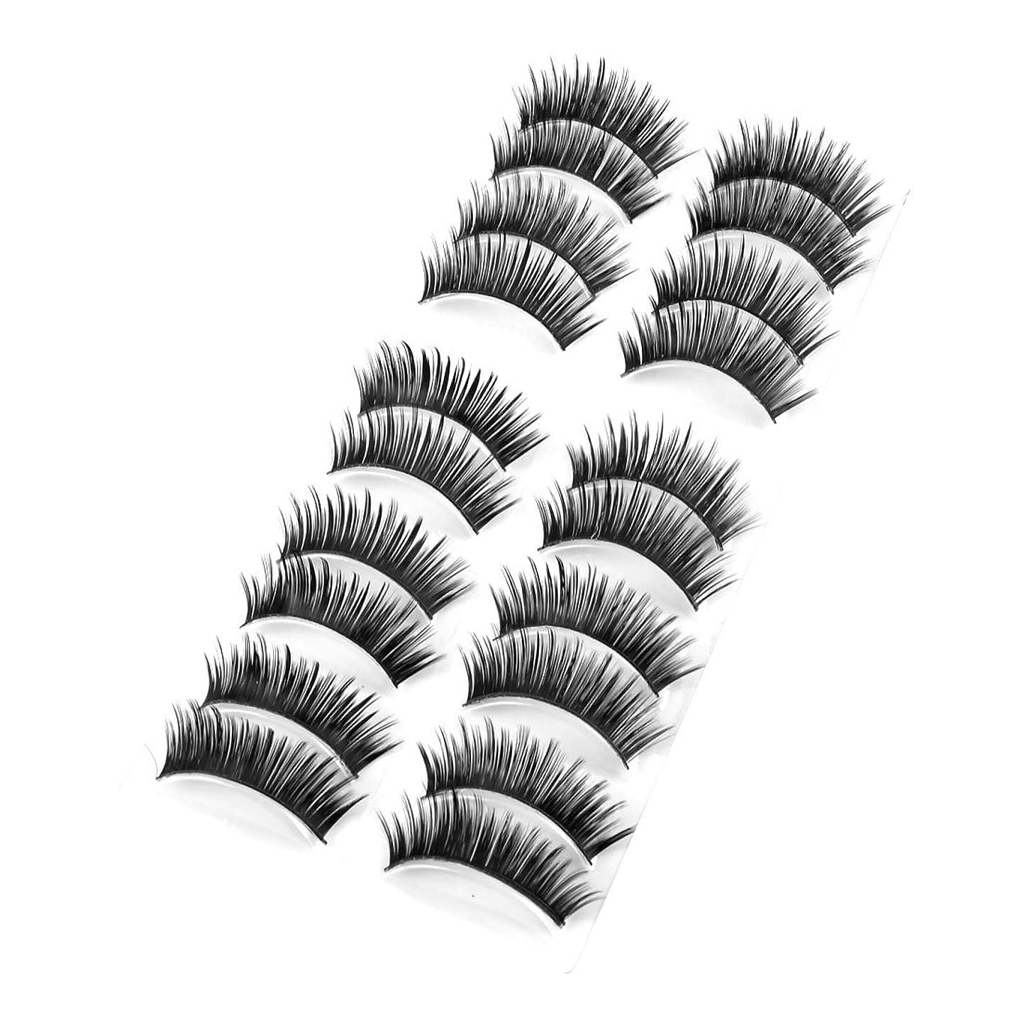 学生内向き居間つけまつげ 付け睫毛 ブラックまつげ 目の美容  厚いカーリー ガール向け 10ペア入り