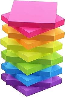 Sticky Notes 3x3 Self-Stick Notes 6 Bright Multi Colors Purple Sticky Notes 12 Pads 100 Sheet/Pad (12)