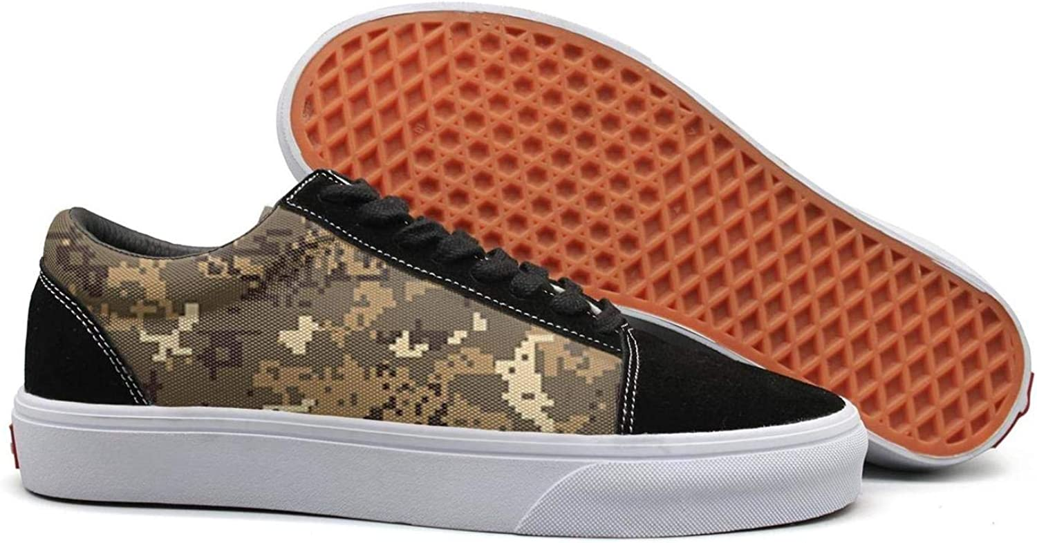 Uieort Brown Desert Digital camo Womens Lace up Loafers shoes Casual