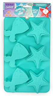 Handstand Kitchen Under the Sea Silicone Mermaid Tail and Starfish Shaped Cupcake Mold