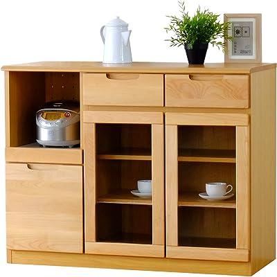 ISSEIKI キッチンカウンター 幅105 ナチュラル 木製 【ER-01-7】