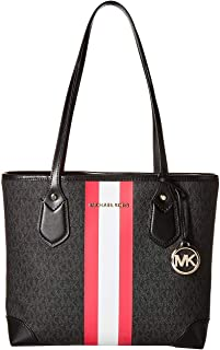 MICHAEL Michael Kors Eva Small Tote Black/Neon Pink One Size