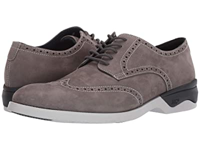 Johnston & Murphy Waterproof XC4(r) Elkins Casual Wing Tip Oxford (Gray Nubuck) Men