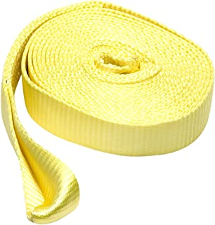 SmartStraps 20' Tow Strap with Loop Ends, Yellow– 17,000lb Break Strength, 5,660lb Safe Work Load – Recover Stuck Vehicles...
