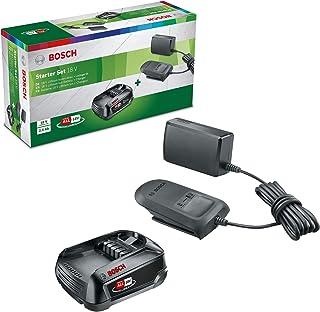 Bosch Home and Garden startsats 18 V (18 volts system, batteri 2,5 Ah, laddare, i kartongkartongkartong)