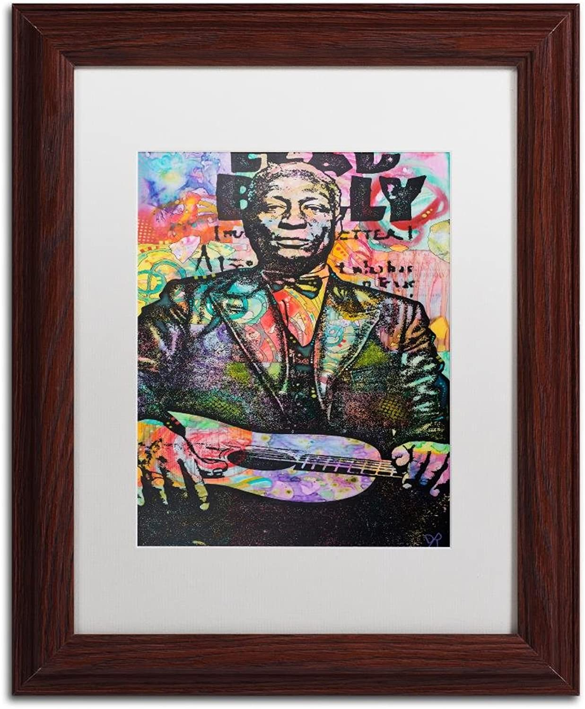 Trademark Fine Art Lead Belly by Dean Russo, White Matte, Wood Frame 11x14