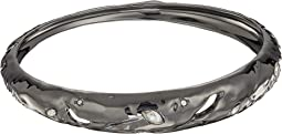 Skinny Tapered Rocky Metal Bangle Bracelet