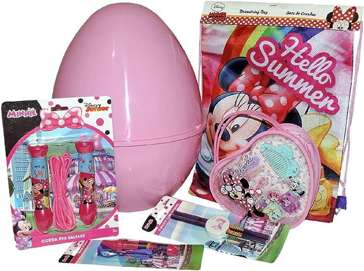Uovo di pasqua gigante in plastica con giochi sorprese minnie disney uovo contenitore guscio rosa  -u B08XC7DXH8