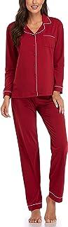 Sponsored Ad - Women's Pajamas Set, Short Sleeve Sleepwear Button-Down Nightwear Soft Pj Lounge Sets Pajamas for Women
