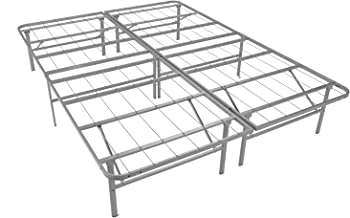 Mantua Premium Platform Base in Silver, Fits Full XL Mattress, Replaces Box Spring and Bed Frame, Room for Storage Underneath, No Tools Required