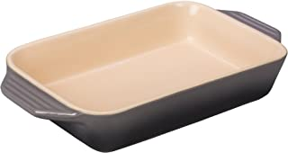 "Le Creuset PG1047S-267F Stoneware 1.8 qt. [10.5"" x 7""] Rectangular Dish - Oyster"