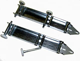 Garage Door Low Headroom - Quick Turn Brackets with Premium Nylon Rollers - Pair