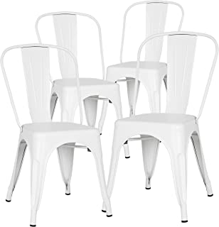 Amazon Com White Chairs Kitchen Dining Room Furniture
