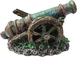 SLOCME Aquarium Cannon Ornaments Pirate Cannon Decorations - Resin Material Mini Cannon Ornaments, Safe and Non-Toxic Fish Tank Decor.