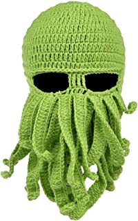 99e2c613ee8 Beard Hat Beanie Hat Knit Skull Hat Winter Warm Octopus Hat Cable Knit High  Bun Ponytail