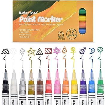 10 Stü Schwarze Dauerhafte Acrylfarbe Marker Stifte Für Glas Metall Keramik