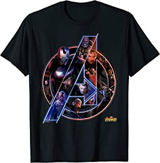Marvel Avengers Infinity War Neon Team Graphic T-Shirt T-Shirt