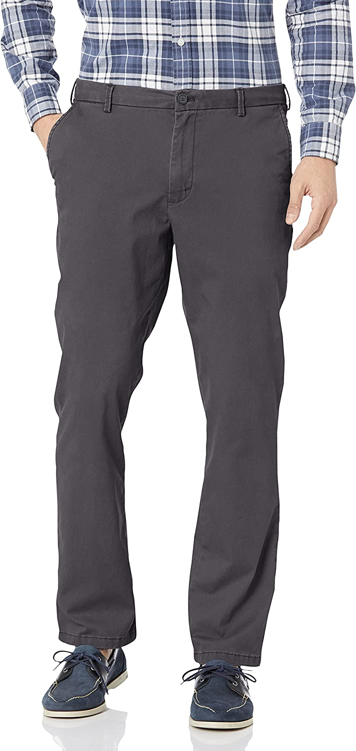 Cheap mail order sales IZOD Men's Saltwater Stretch Flat Straight Fit Pant OFFicial store Chino Front