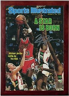 Michael Jordan Sports Illustrated Autograph Replica Super Print - A Star is Born - Chicago Bulls - 12/10/1984 - Framed